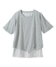 <ニッセン> クルーネックノースリーブカットソートップス (Tシャツ・カットソー)(レディース)T-shirts 5