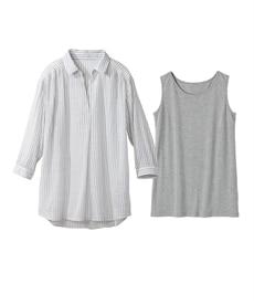 <ニッセン> クルーネックノースリーブカットソートップス (Tシャツ・カットソー)(レディース)T-shirts 15