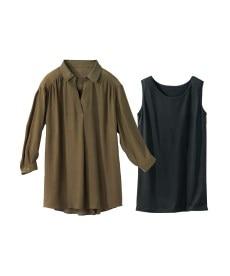 <ニッセン> クルーネックノースリーブカットソートップス (Tシャツ・カットソー)(レディース)T-shirts 17