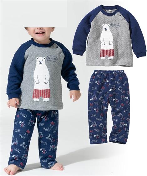 男の子ニットキルトパジャマ(男の子 子供服) キッズパジャマ...