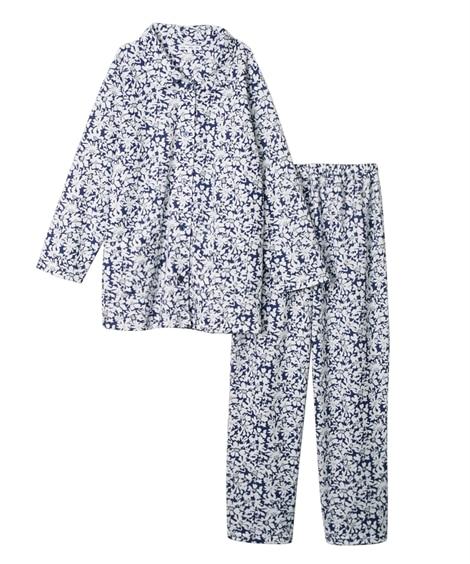【WEB限定】綿混やわらかニットシャツパジャマ (パジャマ・...
