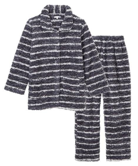 【WEB限定】ふわぬくモールタッチシャツパジャマ上下セット(フリーサイズ) (パジャマ・ルームウェア)Pajamas