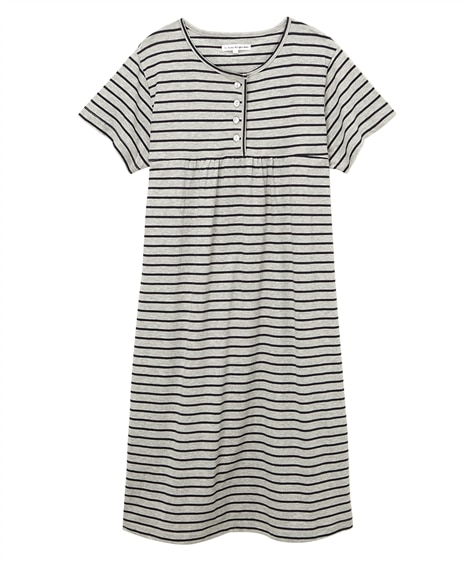【WEB限定】夏の綿100%パジャマ 薄手がうれしい半袖ワン...
