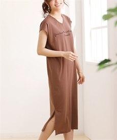 <ニッセン> ロングTシャツワンピース(クルーネック) (ワンピース)dress 25
