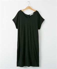 <ニッセン> ロングTシャツワンピース(クルーネック) (ワンピース)dress 27