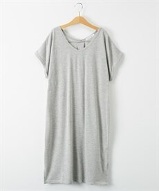 <ニッセン> ロングTシャツワンピース(クルーネック) (ワンピース)dress 28
