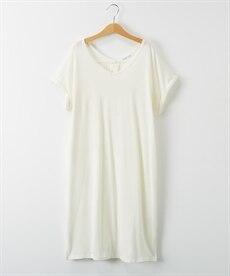 <ニッセン> ロングTシャツワンピース(クルーネック) (ワンピース)dress 29