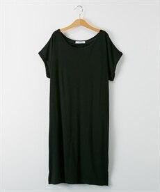 <ニッセン> ロングTシャツワンピース(クルーネック) (ワンピース)dress 30