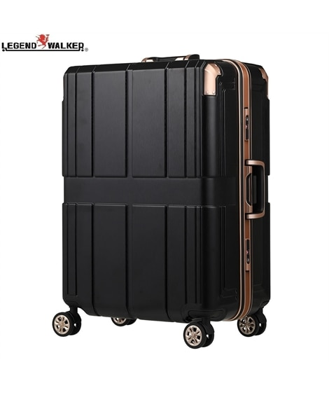 6027-60 三層構造PC100%素材エンボス加工フレームタイプスーツケース SHIELD ll レジェンドウォーカー LEGEND WALKER スーツケース(旅行バッグ) Bags
