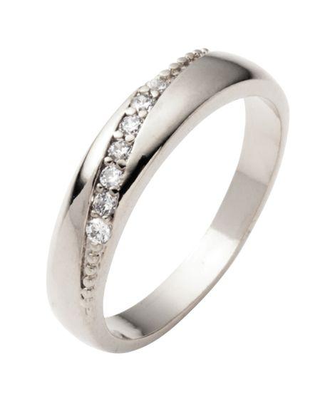 【Creamdot.】『気品溢れる美しさ。斜めリング』 指輪(リング)