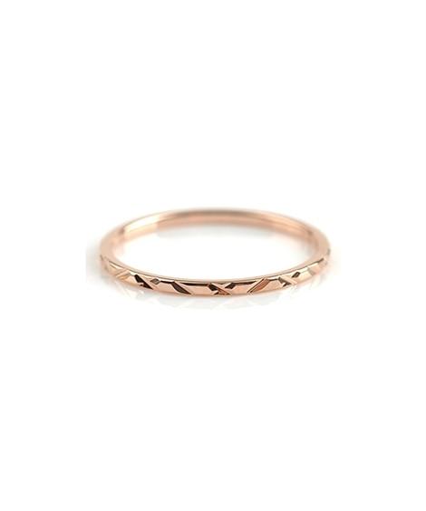 【Creamdot.】指先にさりげないアクセント、『華奢ラインのデザインリング』 指輪(リング)