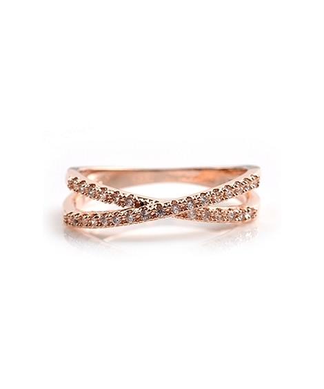 【Creamdot.】手元を美しく魅せてくれる、華奢ラインのクロスリング 指輪(リング)