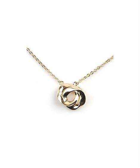 【Creamdot.】雰囲気のあるスタイルがつくれる、ダブルサークルネックレス ネックレス(ペンダント)