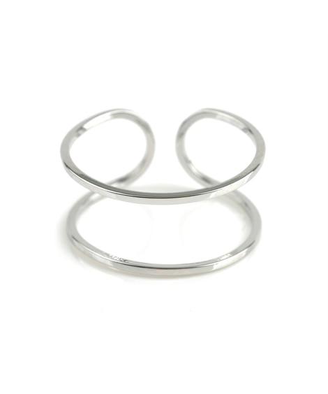【Creamdot.】シンプルを極めた、スタイリッシュなダブルラインリング 指輪(リング)