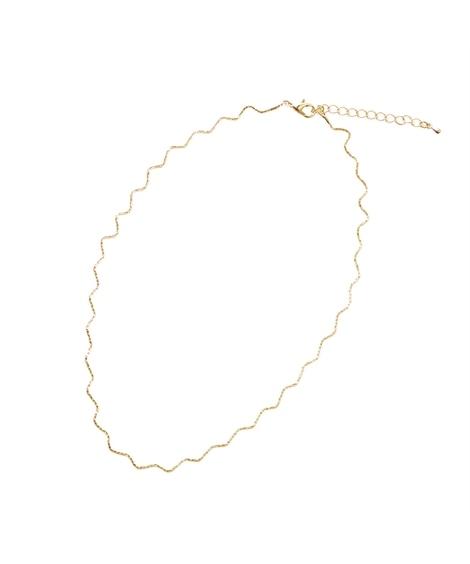 【Creamdot.】波打つベネチアンチェーンが繊細に煌めくショートネックレス ネックレス(ペンダント)