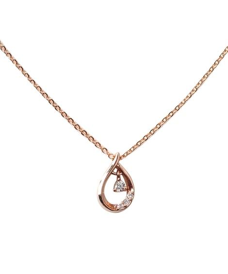 【Creamdot.】シンプルな輝きを放つティアドロップモチーフネックレス ネックレス(ペンダント)