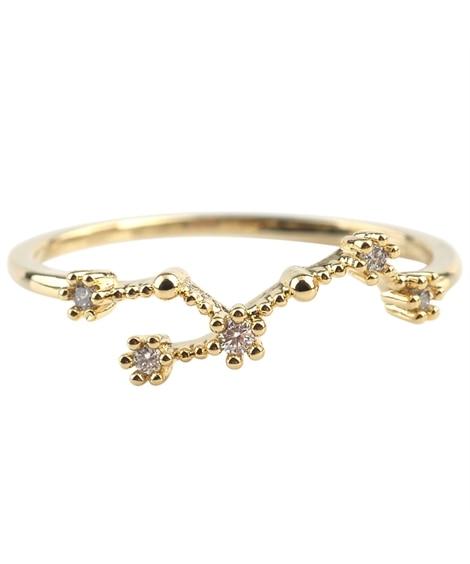 【Creamdot.】身につけると幸せが舞い降りる。『十二星座モチーフリング』 指輪(リング)