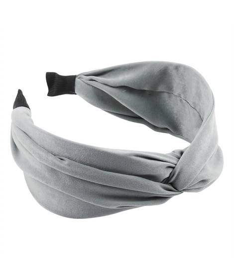 【Creamdot.】大人可愛いツイストスカーフの華やぎカチューシャ ヘアアクセサリー