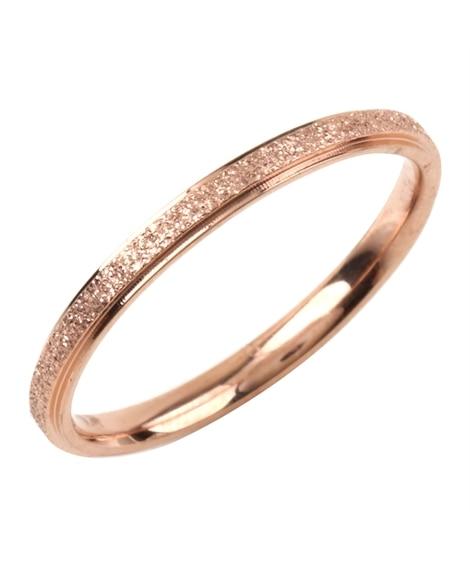 【Creamdot.】繊細な輝きを添える、ステンレス製スターダスト加工リング 指輪(リング)