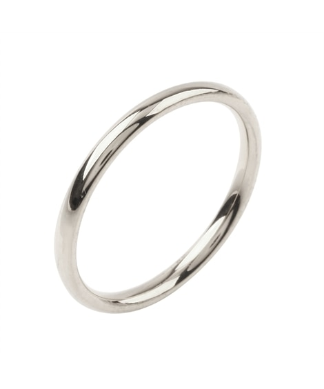 【Creamdot.】色褪せない輝き、2mm幅のステンレス製ペアリング 指輪(リング)