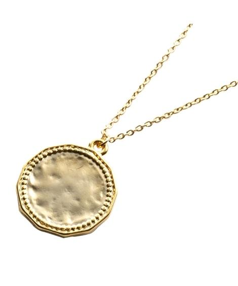 【Creamdot.】トレンドと抜け感をプラス、ロングタイプのコインネックレス ネックレス(ペンダント)
