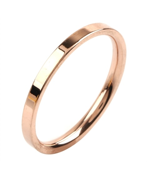 【Creamdot.】色褪せない輝き、ステンレス製2mmシンプルペアリング 指輪(リング)