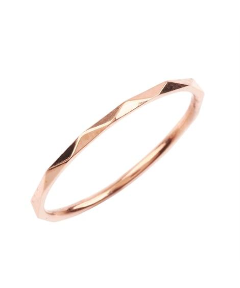 【Creamdot.】色褪せない輝きでデイリー使える多面カットの華奢リング 指輪(リング)