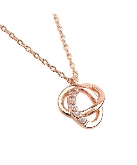 【Creamdot.】ビジューラインが上品な、トリニティー華奢ネックレス ネックレス(ペンダント)