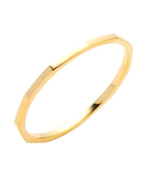 【Creamdot.】多角形デザインが今っぽい、華奢ラインの極細リング 指輪(リング)