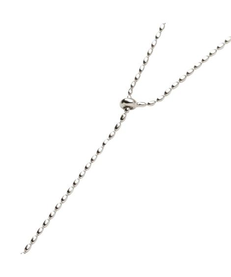 【Creamdot.】小粒ボールチェーンがオトナな印象のY字ロングネックレス ネックレス(ペンダント)