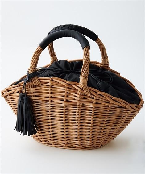 ワイド型かごバッグ トートバッグ・手提げバッグ, Bags
