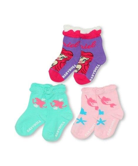 【BABYDOLL】ディズニー クルーソックスセット 4850(17-20cm) キッズ靴下, Kid's Socks