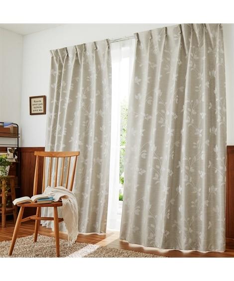 【送料無料!】軽くておしゃれ!モダンなリーフ柄遮熱。防音。1級遮光カーテン&レースセット カーテン&レースセット, Curtains, sheer curtains, net curtains(ニッセン、nissen)