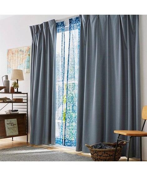 1級遮光・遮熱・防音カーテン&更紗模様のレースセット カーテン&レースセット, Curtains, sheer curtains, net curtains(ニッセン、nissen)