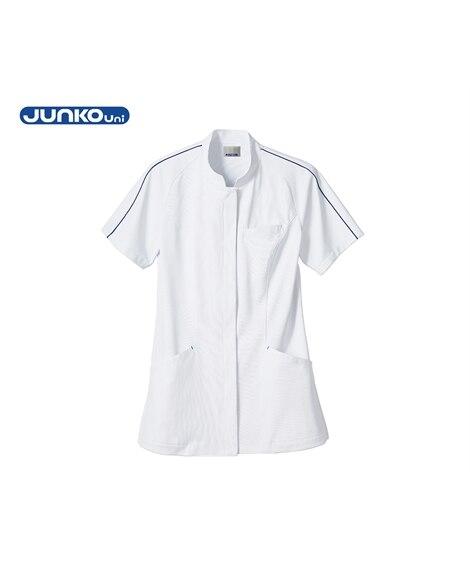 JUNKO Uni JU802 ジャケット(半袖)(女性用) ナースウェア・白衣・介護ウェア