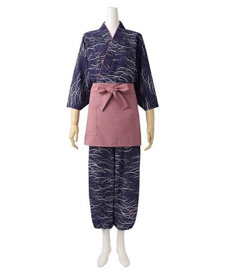 MONTBLANC 7-311 作務衣パンツ(雪見笹柄)(女性用) 【業務用】コック服
