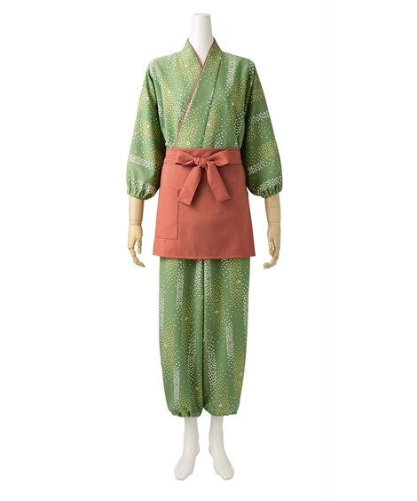 MONTBLANC 7-393 作務衣パンツ(桜吹雪柄)(女性用) 【業務用】コック服