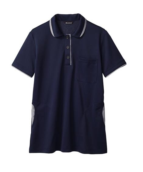 MONTBLANC32-0009ニットシャツ(半袖)(女性用) ナースウェア・白衣・介護ウェア