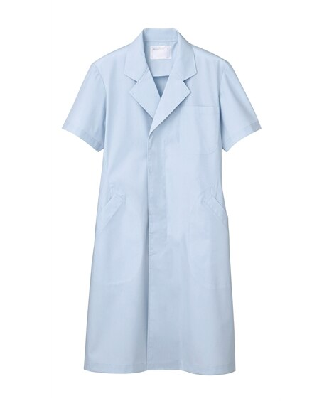 MONTBLANC 51-604 ドクターコート(半袖)(男性用) ナースウェア・白衣・介護ウェア