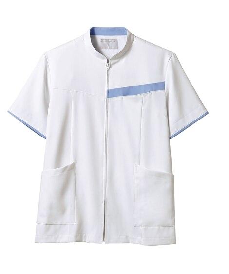 MONTBLANC 72-1244 ジャケット(半袖)(男性用) ナースウェア・白衣・介護ウェア