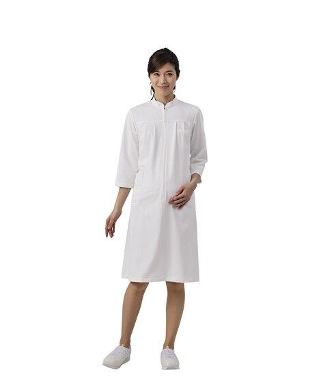 MONTBLANC 73-021 マタニティワンピース(7分袖)(女性用) ナースウェア・白衣・介護ウェア