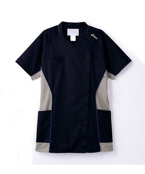 asics CHM356-90 半袖スクラブ(レディス) ナースウェア・白衣・介護ウェア