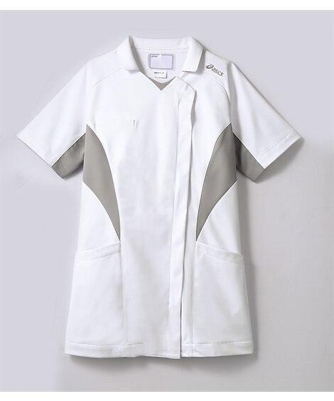 asics CHM357-10 半袖ナースジャケット(レディス) ナースウェア・白衣・介護ウェア