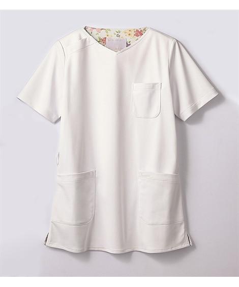 LAURA ASHLEY LW603-12 半袖スクラブ(レディス) ナースウェア・白衣・介護ウェア