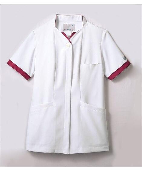 PROFESSIONAL PRIDES PP302-18 半袖ナースジャケット(レディス) ナースウェア・白衣・介護ウェア