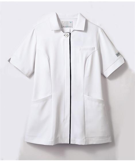 PROFESSIONAL PRIDES PP303-19 半袖ナースジャケット(レディス) ナースウェア・白衣・介護ウェア