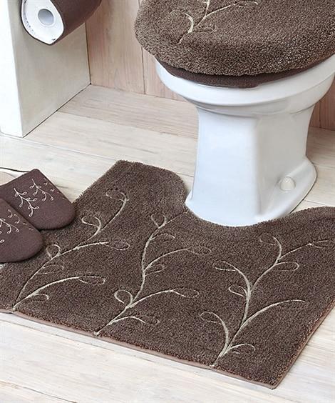 コード刺繍でアクセントをつけたナチュラルなトイレタリーシリーズ(トイレマット) トイレマット・フタカバー・便座カバー, Toilet goods(ニッセン、nissen)