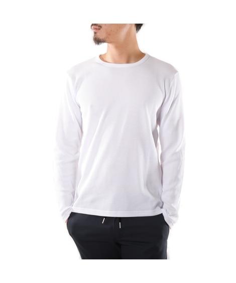 ワッフル長袖Tシャツ Tシャツ・カットソー...