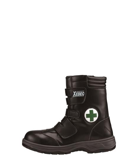 ジーベック 85105 樹脂先芯 緑十字マークハイカットセフティシューズ 安全靴・セーフティーシューズ
