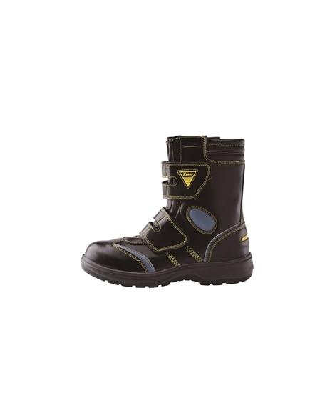 ジーベック 85204 樹脂先芯 サイド・面ファスナー仕様ハイカットセフティシューズ 安全靴・セーフティーシューズ